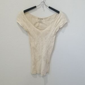 Free People Intimately Cream Lace Top Sz XS S